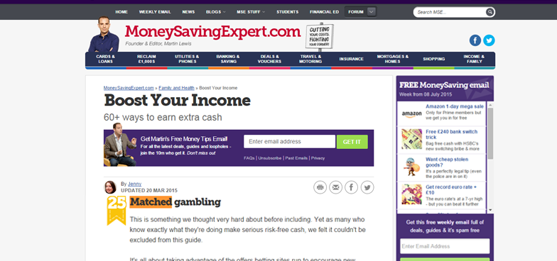profit-accumulator money saving expert